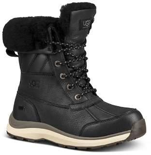 UGG Women's Adirondack Round Toe Leather & Suede Waterproof Booties