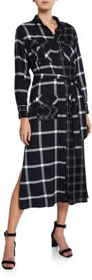Current/Elliott The Anna Plaid Maxi Dress