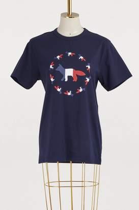 MAISON KITSUNÉ Fox flag cotton T-shirt