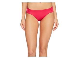 Trina Turk Studio Solids Shirred Side Hipster Bikini Bottom Women's Swimwear