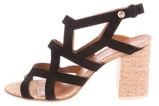 Givenchy Multistrap Suede Sandals