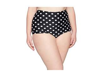 Unique Vintage Plus Size High-Waist Louise Swim Bottom