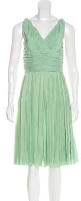 Oscar de la Renta Silk Midi Dress Green Silk Midi Dress