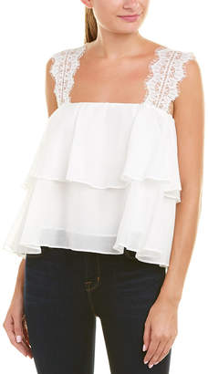 CAMI NYC Off-The-Shoulder Silk-Blend Top