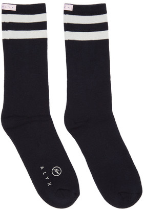 Alyx Navy fragment Edition Socks $60 thestylecure.com