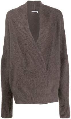 Agnona oversized gauzed jumper