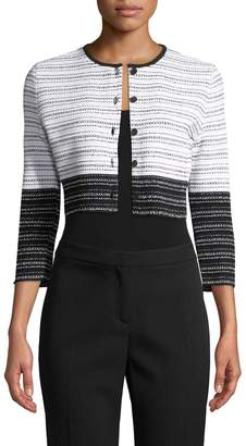 Carolina Herrera Women's Knit Colorblocked Cardigan