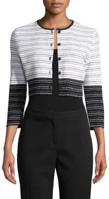 Carolina Herrera Women's Knit Colorblocked Cardigan