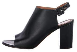 Givenchy Peep-Toe Slingback Mules