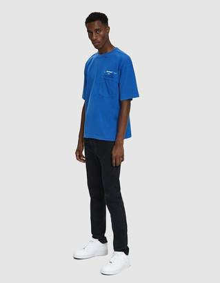 Off-White Off White S/S 80's Tee in Cobalt Blue