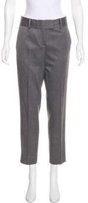 L'Agence Mid-Rise Straight-Leg Pants