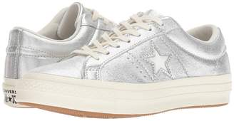 Converse One Star Heavy Metallic Leather Ox Shoes