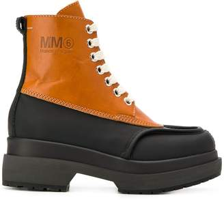 MM6 MAISON MARGIELA two-tone combat boots