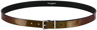 Maison Margiela Belt in Metallic Green | FWRD