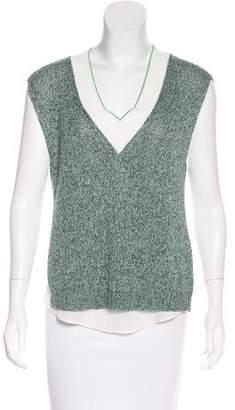 3.1 Phillip Lim Silk-Paneled Knit Top