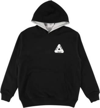 635b081d83cd Palace Reverso Hooded Sweatshirt Black Grey Marl