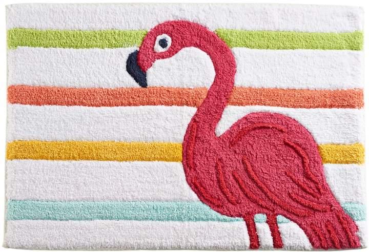 Celebrate Summer Together Flamingo Bath Rug