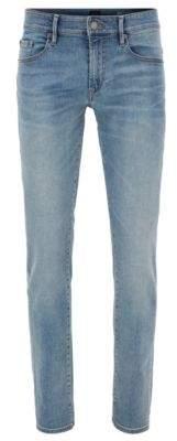 BOSS Hugo Cotton Jean, Skinny Fit Orange72 36/32 Turquoise