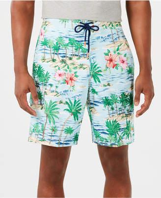 "Tommy Bahama Men Baja Aloha Surf Tropical-Print 9"" Board Shorts"
