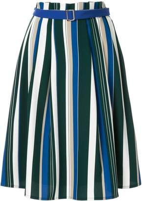 GUILD PRIME striped flared skirt