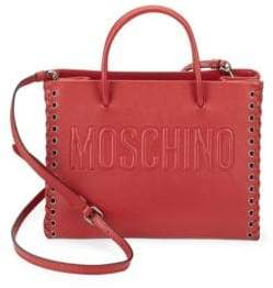 Moschino Lace Sides Leather Tote