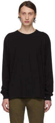 John Elliott Black Classic Long Sleeve T-Shirt
