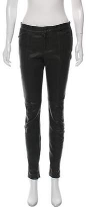 A.L.C. Leather Mid-Rise Skinny Pants