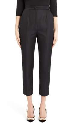 Dolce & Gabbana Pleated Silk Blend Skinny Pants