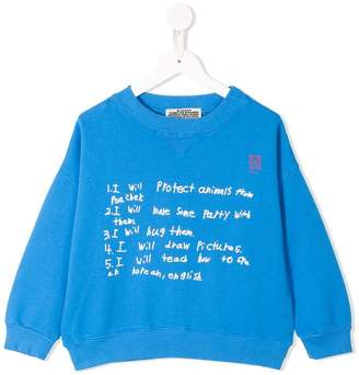 Bobo Choses to do list printed sweatshirt