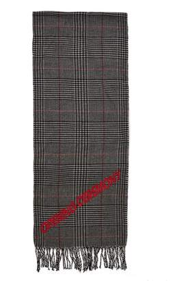 Opening Ceremony Torch Plaid Logo Scarf