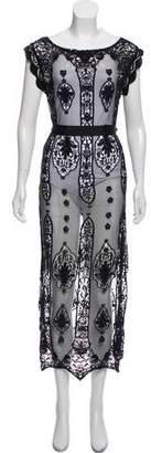 Miguelina Mesh Maxi Dress