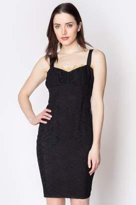 Loren Geminola Black Sophia Dress