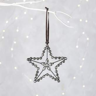 The White Company Jewelled Large Star Christmas Decoration