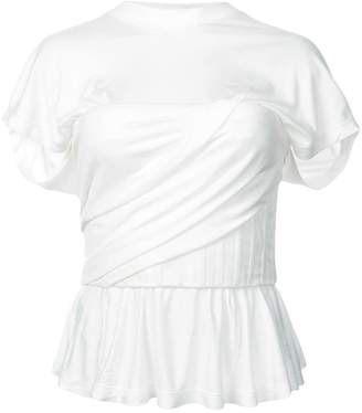 Alexander Wang frill-trim ruched T-shirt