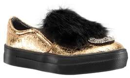 Nina Inaya Metallic Faux Fur Trim Sneaker