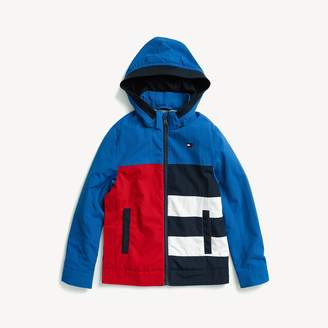 6fcd5bda Tommy Hilfiger Seated Fit Hooded Colorblock Jacket