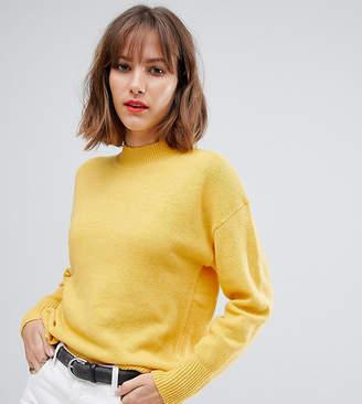 Esprit high neck lightweight jumper in yellow