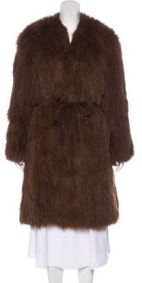 Max Studio Knit Fur Coat