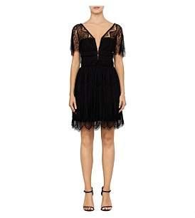 Nicholas Eyelash Lace Mini Dress