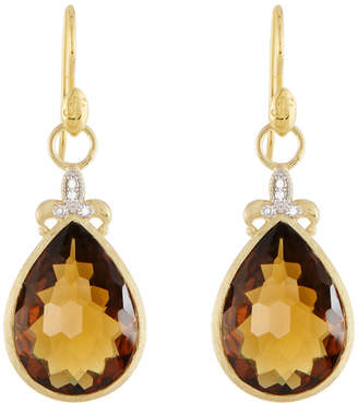 Jude Frances Large Pear Stone Fleur Earring Charms