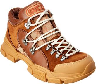 Gucci Flashtrek Gg Leather & Suede Sneaker