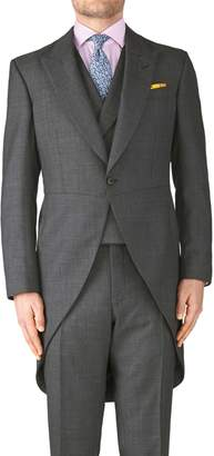 Charles Tyrwhitt Dark Grey Classic Fit Morning Suit Tail Coat Size 36