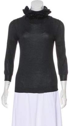 Fendi Silk Mock Neck Sweater