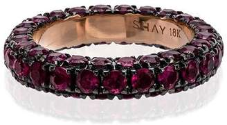 Shay rose gold 3 side ruby ring