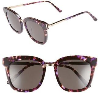 Women's Gentle Monster Button 54Mm Zeiss Lens Sunglasses - Purple/ Gold $230 thestylecure.com