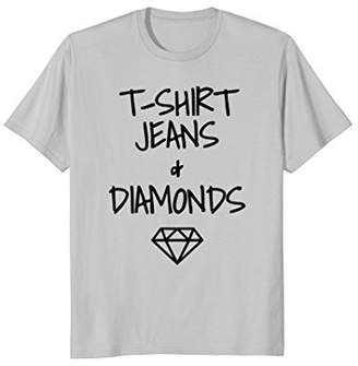 T-Shirt Jeans And Diamonds Shirt Casual Funny Novelty Gift