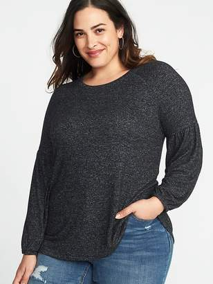 Old Navy Relaxed Plus-Size Balloon-Sleeve Plush-Knit Top