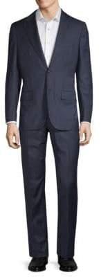 Kiton Standard-Fit Plaid Wool Suit