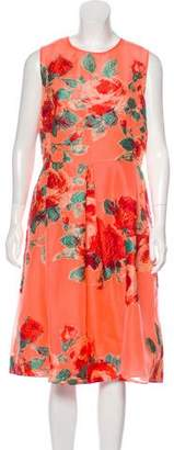 Lela Rose Sleeveless Jacquard Dress w/ Tags