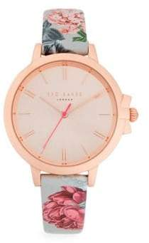 Ted Baker Floral Analog Watch